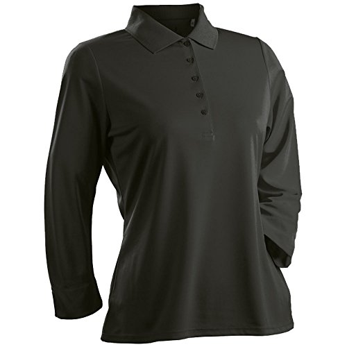 3/4 Sleeve Golf (Nancy Lopez Golf Luster 3/4 Sleeve Golf Polo 2017 Women Black Large)