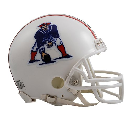 New England Patriots 1982-1989 Throwback Riddell Mini Football Helmet - New in Riddell Box