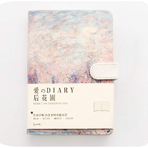 MINILZY Notebook 2019 Korean Kawaii Vintage Flower Notebook Journal Diary Weekly Planner Organizer Paper Notepad A5 Agendas Four Inner Pages,A,A5 128X188mm