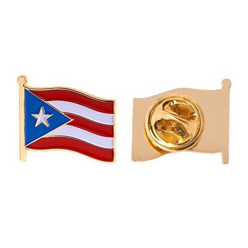 Puerto Rico State Flag Lapel Pin Enamel Made of Metal Souvenir Hat Men Women Patriotic (Waving Flag Lapel Pin)
