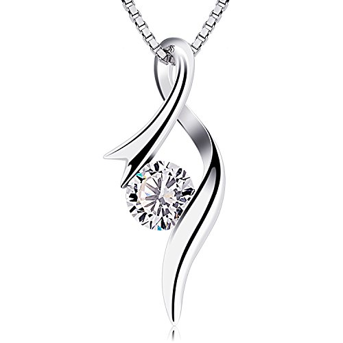 Women Fashion Jewelry 925 Silver Pendant Necklace -YDHP174 - 4