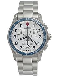 Victorinox Swiss Army Mens 241121 Chrono Classic Silver Dial Watch