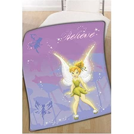 Disney Fairies Believe Tinkerbell Fleece Throw Blanket Amazoncouk Impressive Tinkerbell Fleece Throw Blanket