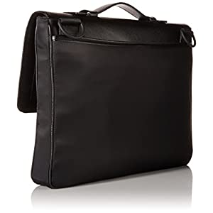 Calvin Klein Men's Nylon/Saffiano Attache, Black, One Size