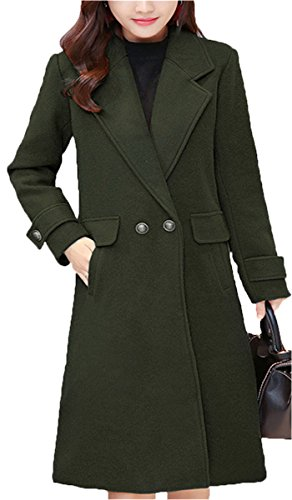 Charmant EMIN Damen Trenchcoat Übergang Winterjacken Mantel Dickere Elegant  Beiläufig Steppmantel Gesteppt Coat Outwear Armgrün N9KI4cEvP