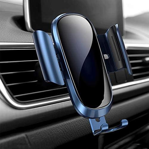 金属ミラー車の電話ホルダー自動カーナビゲーション携帯電話ラックアウトレット電話クリップ重力誘導多機能車携帯電話ホルダー携帯電話ブラケット車 (色 : B)