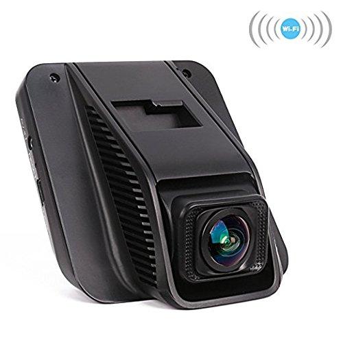 Dash Cam, Mini Full HD 1080P Car Camera, Super Wide Angle Car Driving Video Recorder (Black 0)