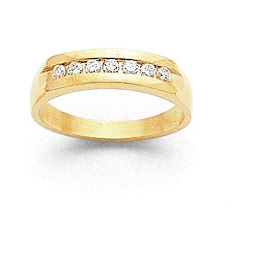 14k AA Diamond Men's Channel Band Diamond quality AA (I1 clarity, G-I color) (Mens Channel Band Diamond Aa)