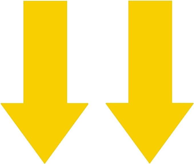 2x Abschlepphaken Pfeil Neon Fluoreszierend Gelb Passend Für Rally Viper 4 Cm X 8 Cm Auto