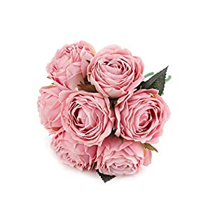 Kimura's Cabin Artificial Flowers Fake Silk Rose Flower Bouquet Floral Plants Decor for Home Garden Wedding Party Decor Decoration 8
