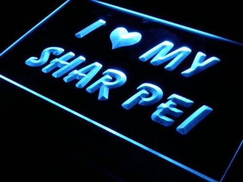 (ADV PRO s064-b I Love My Shar Pei Dog Pet Neon Light)