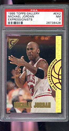 (1995-96 Topps Gallery The Expressionists #EX2 Michael Jordan Insert NBA NM PSA 7 Graded Basketball Card)