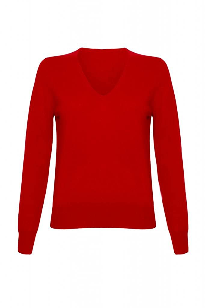 Ladies Cashmere V Neck Sweater