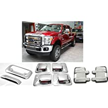 2008-2015 Ford F-250 SuperDuty Chrome Mirror Door Handle Tailgate Covers Caps