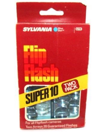 Sylvania Flashbulbs - Sylvania Flip Flash Super 10 Camera Flash Bars