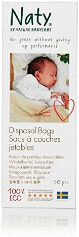 Naty Diaper Disposable Bags - 50 ct