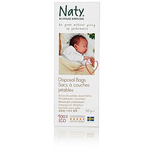 Naty by Nature Babycare - 50 Sacs à Couches Ecologiques Jetables - 100% Biodégradable - Lot de 3