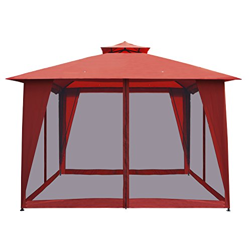 Aleko Gazm10x10or Double Roof 10 X 10 Foot Waterproof