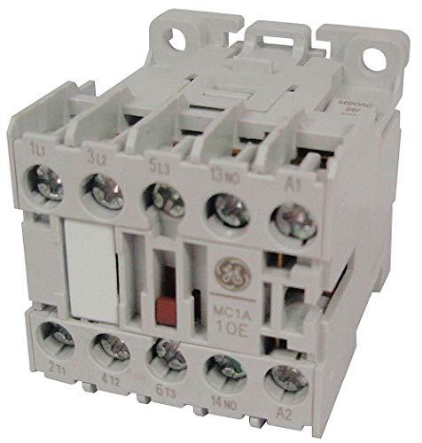 GE 24VAC Miniature IEC Magnetic Contactor; No. of Poles 3, Reversing: No, 9 Full Load Amps-Inductive ()