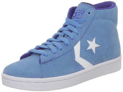 Converse Pro Lea Sue Mid 236160-61-51 - Zapatillas de ante unisex Azul (Blau (Bleu d'Eau/Blanc))