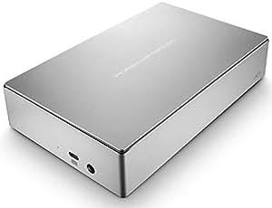 LaCie Porsche Design 4TB USB-C Desktop Hard Drive, Silver (STFE4000100)