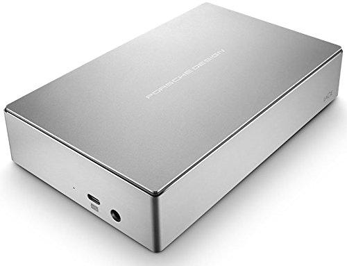 LaCie Porsche Design 4TB USB-C Desktop Hard Drive, Silver (STFE4000100) by LaCie