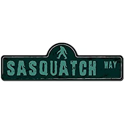 Sasquatch Street Sign | Indoor/Outdoor | Funny Home Décor for Garages, Living Rooms, Bedroom, Offices | SignMission personalized gift