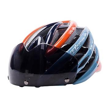 jksports Sha Tiger Hombres y las mujeres una pieza casco de bicicleta gafas gafas de una