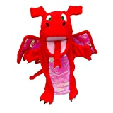Fiesta Crafts - T-2363 - Marionnettes À Main - Le Dragon - Rouge