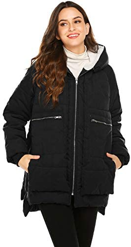 Beyove Down Jacket for Women Winter Thickened Down Coat Waterproof Hooded Long Parka(S-XXL)