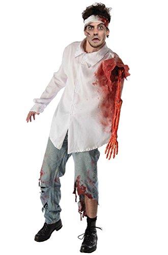 Forum Novelties Men's Zombie Attack Costume Shirt, Multi, Standard ()