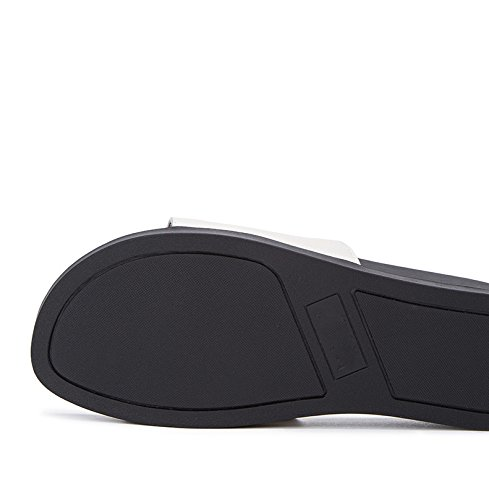 tacco DHG estivi Tacchi moda piatti basso alti a con Sandali Sandali Pantofole bufalo da alla di Sandali 35 pelle tacco donna casual basso rwxrZq5g