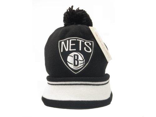 New Mitchell & Ness NBA Brooklyn Nets Cuffed Pom Knit Beanie by Mitchell & Ness