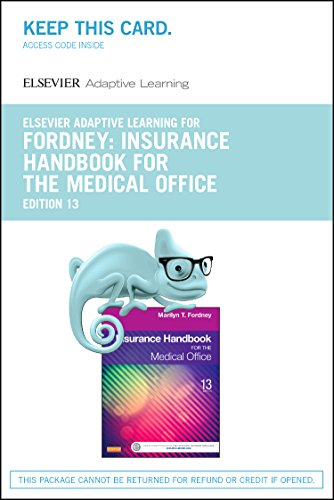 Adaptive Learning for Insurance Handbook for the Medical Office (Access Code), 13e Pdf