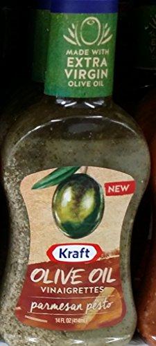 Kraft Olive Oil Vinaigrettes, Parmesan Pesto 14 Oz (Pack of 2) (Pesto Parmesan)