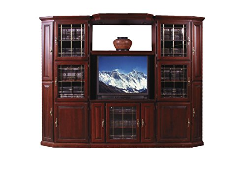 Forest Designs Traditional Three Piece Wall & TV Stand & Adjustable Shelf in Mahogany 67w TV Stand Unfinished Alder