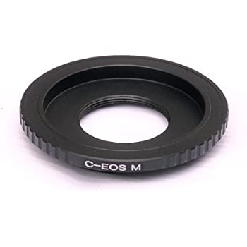 Fotasy 16mm Cine Movie C Mount Lens to Canon EOS M EF-M Mirrorless Camera Adapter, fits Canon M1, M2, M3 M10 Mirrorless Camera