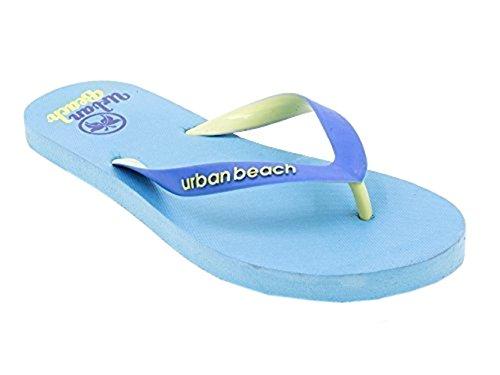 Urban Beach Womens Rubber Slippers Blauw