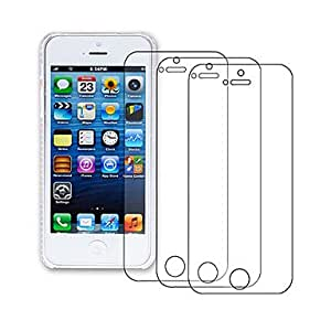 NEW Series Design Hard Case with 3-Pack Screen Protectors for iPhone 5/5S , F