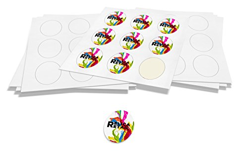 2,700 White Gloss Oval Shaped Self-Adhesive Labels (2in. x 3in.) For Laser/InkJet Printers - 300 (A4) Sheets with 9 Labels per Sheet ()