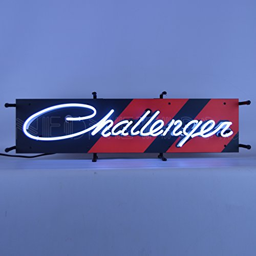 Dodge Challenger Junior Neon Sign by Neonetics Bright White Real Neon Tubes 28 Inch by 9 Inch – 5SMCLG by Neonetics (Image #1)