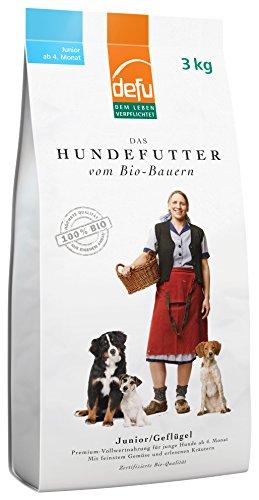 defu Bio Hundefutter Geflügel für Junghunde 3 kg, 1er Pack (1 x 3 kg)