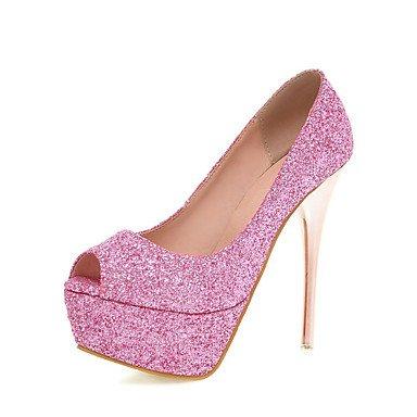 Zormey Chaussures Pour Femmes Glitter/Talons Aiguilles/Peep Toe/Plateforme/Open Toe Chaussures De Mariage/Partie &Amp Soir/Rose Robe Rouge Rose Us8.5 / Eu39 / Uk6.5 / Cn40