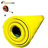 Toucan City Tape Measure and Husky 14 ft. x 210 ft. x 10 mil Yellow Guard Vapor Barrier CFYG1014-210Y