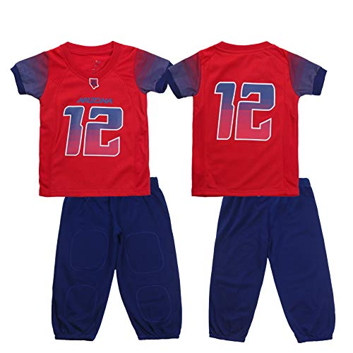 (FAST ASLEEP NCAA Arizona Wildcats Boys Toddler/Junior Football Uniform Pajamas, Size 7T, Red/Navy)