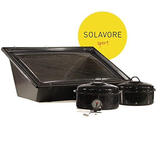 Solavore Sport Solar Oven Get Cooking! Bundle - Includes 2 GraniteWare Cooking...