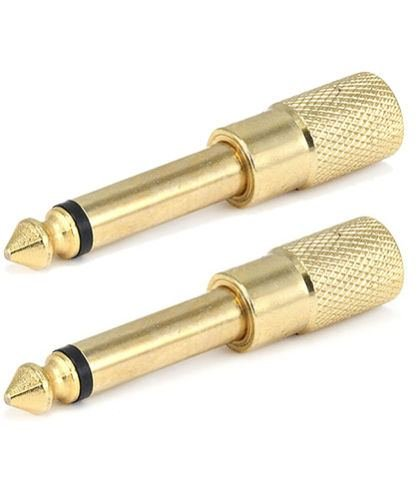"2x Gold 3.5mm 1/8"" Stereo Female to 6.3mm 1/4"" Male Mono Aud"