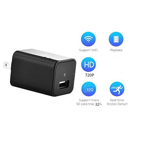 FSTCOM HD 720P Mini Camera Charger Adapter IP Nanny Cam