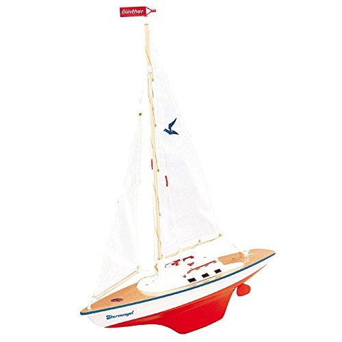 Segeljacht Sturmvogel 55x67cm Boot Segelbootmodell Modell Schiff Schiffmodell Segler Jacht