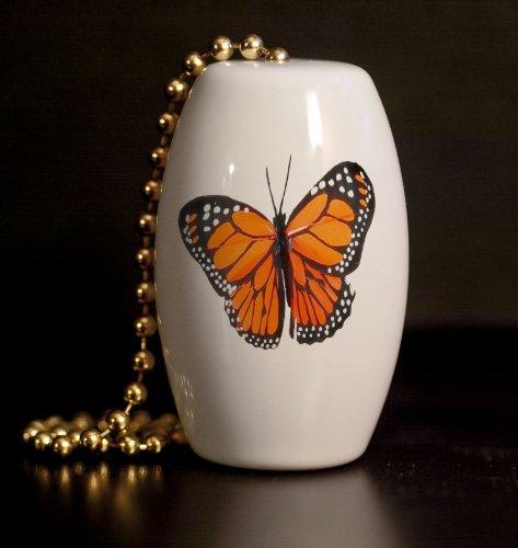 Monarch Butterfly Porcelain Fan / Light